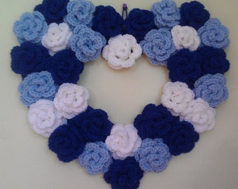 Winter Bloom Heart Wreath
