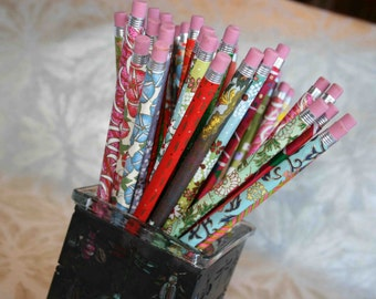 Chiyogami Pencils - ten assorted, japanese patterns