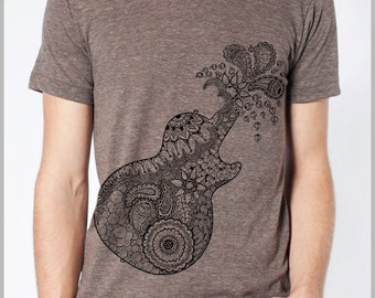 Men's T Shirt Guitar American Apparel XS, S, M, L, XL 9 COLORS
