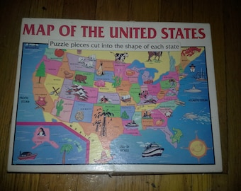 Map of the USA   jigsaw puzzle  size 14 x 20