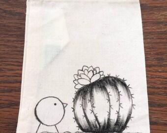 """Pochette """"le cactus et l'oiseau"""""""