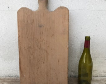 ANTIQUE VINTAGE FRENCH bread or chopping cutting board wood thick! 23041810