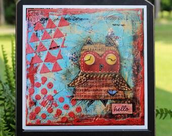 Art Print of Mixed Media Original artwork titled Hello
