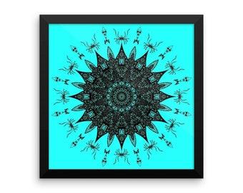 Screaming Mandala Framed Poster