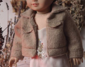 page of swords wool trucker jacket for american girl dolls.