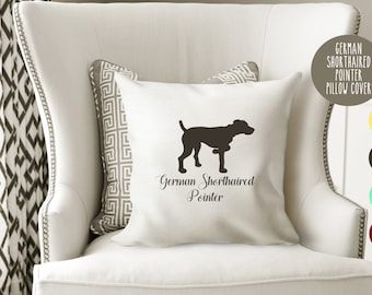 Personalized German Shorthaired Pointer Pillow Cover