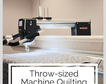 THROW-SIZED, Edge-to-Edge Machine Quilting