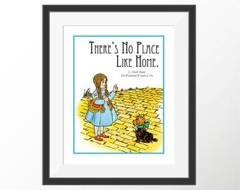 Wizard of Oz Art Dorothy Baum Storybook Kids Room Kids Wall Decor Nursery Art Decor Prints Book Quotes Literature Prints