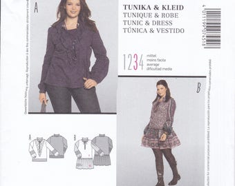 FREE US SHIP Burda 7451 Style Miss Dress Tunic Flounce Plus Sewing Pattern Size 18 20 22 24 26 28 30 32 34 Bust 40 42 44 46 48 50 52 54 New