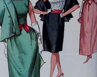 Vintage 1964; Simplicity Misses' Evening Blouse, Stole, Sash and Skirt in Two Lengths Size 12 Bust 32