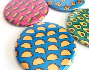 Taco Pocket Mirror | Cute Compact Mirror | Taco Lover Gift