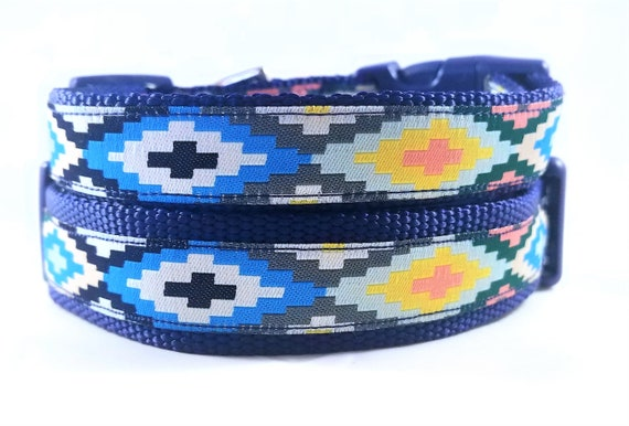 The Southwest Puppy Dog Collar / Adjustable / Tribal / Geometric / Bohemian / Dog Collar / Small Dog Collar / Large Dog Collar