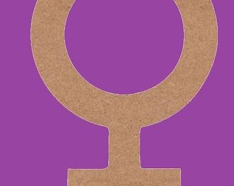 decorate in MDF symbol woman medium support