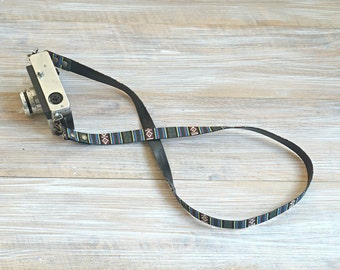 Aztec Camera Strap - Tribal DSLR Strap - Unique Camera Strap - Minimalist Design - Simple Camera Sling - Limited Edition