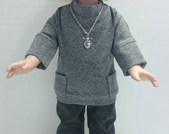 3 Piece Pant Outfit to fit an 18 Inch Doll Such as the American Girl and Other Similar Dolls