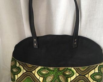 Star handbag two-tone Wax cotton