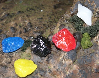 Power Rangers Dino Thunder Dino Gems Red Blue Yellow Black White