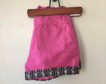 Vintage Pink Denim Shorts
