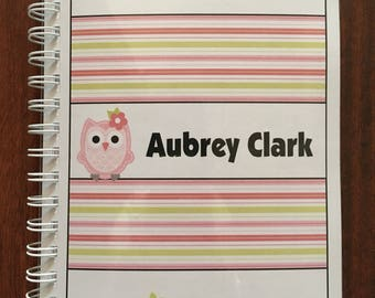 2018 Yearly Planner and Organizer - Owl Theme