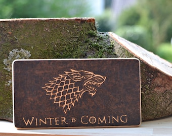 Game of Thrones winter is coming Game of Thrones Pyography fire painting