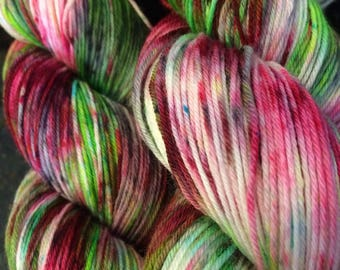 Garden Explosion hand dyed yarn