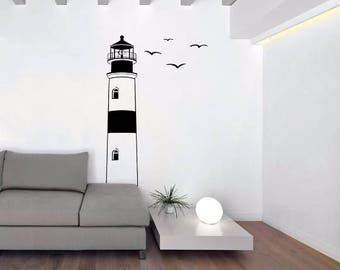Lighthouse Wall Decal - Smooth Sailing Lighthouse Removable Wall Art