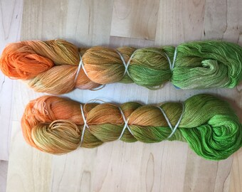 Hand-dyed wool yarn