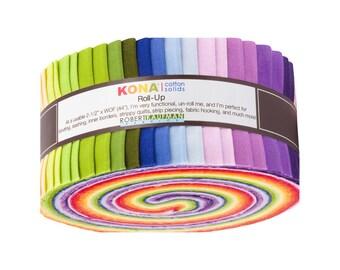 Kona Cotton Solids 2.5-inch Strips Annie Smith Palette - 40 pcs