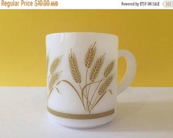 ON SALE Vintage Hazel Atlas Milk Glass Mug