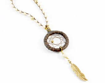 Astrid Necklace (Natural/Gold)