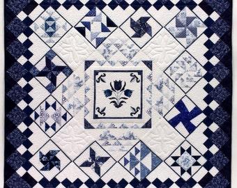 Dutch Theme - pattern for making the overall quilt - PDF pattern