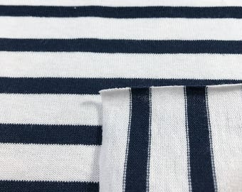 100% Cotton Striped Jersey Knit Fabric - 5499