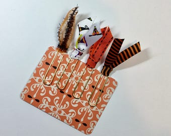 Halloween Ribbon Paper Clip Planner Bookmarks