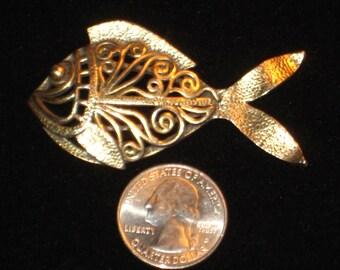 Vintage Napier Large Fish Brooch Pin