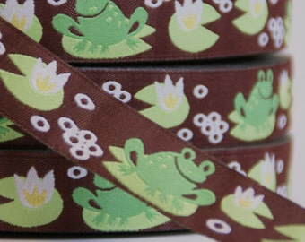 woven ribbon 'Frogs'