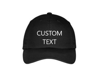CUSTOM Kids / Toddler / Adult Baseball Hat. Personalized Hat. Custom Dad Hat. Kids & Toddler Personalized Baseball Hat. Custom Text Hat.