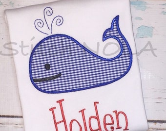 Whale romper, tee or Bodysuit