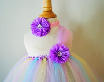 Girls Patel  Easter Dress and Headband -  Pick size infant-girls 8
