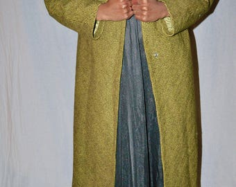 90's Olive green chevron coat