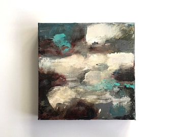 PULP SKY..abstract landscape, small art, abstract art, abstract painting, canvas art, small painting,wall art, atmospheric painting