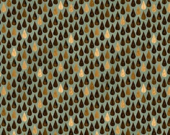 Wilmington Prints - But First, Coffee! - Coffee Drops Teal