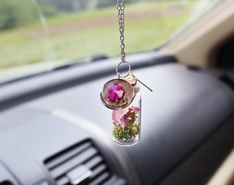 Boho Car Accessory - Mother's Day Gift - Rear View Car Mirror Charm - New Car Gift - Car Mirror Charm - Botanical Gift - Boho Mirror Charm
