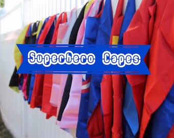 Superhero Cape or Cape and Mask Set - party supplies - Birthday Hero