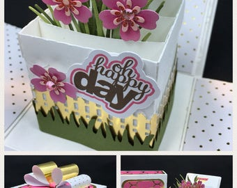 Mothers Day, Birthday, Get Well or any day Gift card box