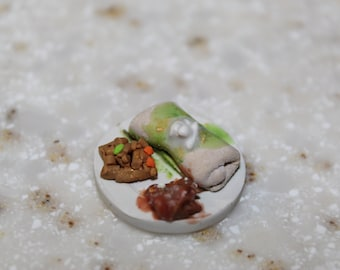 Miniature Burrito Meal ~ Polymer Clay