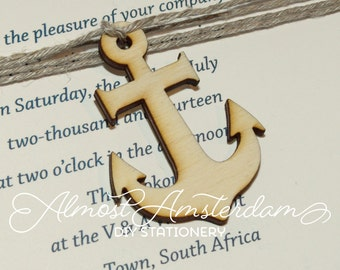Wooden Anchor Cutouts - Anchor Embellishments - Anchor Decoration for Nautical Invitations - Please Select Pack Size