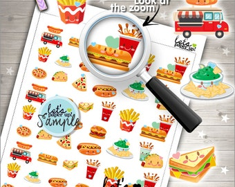 60%OFF - Fast Food Stickers, Printable Planner Stickers, Meal Stickers, Kawaii Stickers, Food Stickers, Planner Accessories, H