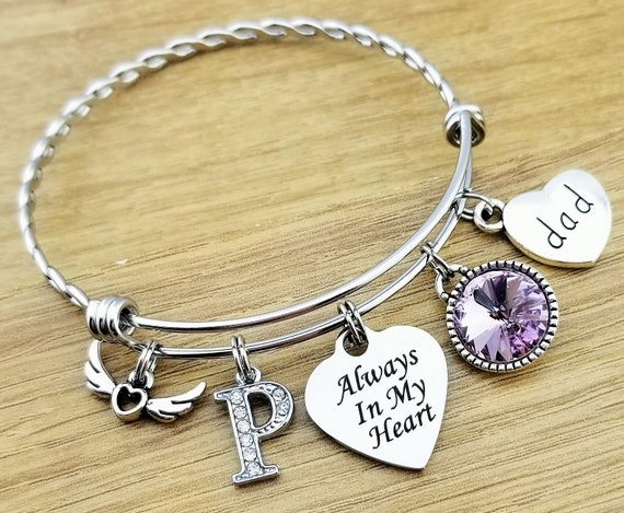 Sympathy Bracelet Sympathy Gift In Memory of Dad Memorial Bracelet Loss of Father  Remembrance Bracelet Remembrance Jewelry Loss of Dad
