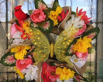 Custom Spring Wreath (Made to order)