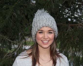Pom Pom Beanie, Beanie, Crochet Beanie, Winter Hat, Beanie, Pom Pom Hat, Slouchy Hat